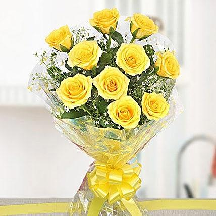 Mesmerizing Yellow Rose Bouquet