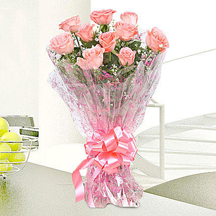 Classy Love Pink Rose Bouquet