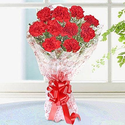 Deep Love Red Carnation Bouquet