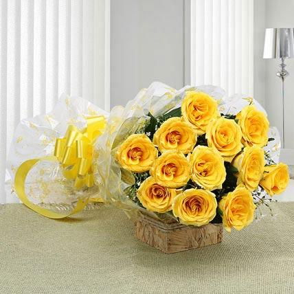 Congratulatory Yellow Rose Bouquet