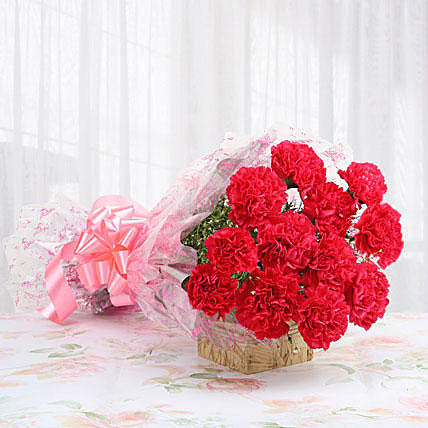 Gallant Pink Carnation Bouquet