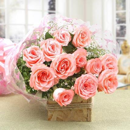 Fun Pink Rose Bouquet