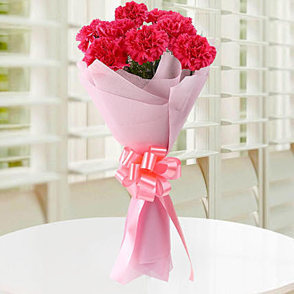 Mothers Love Pink Carnation Bouquet