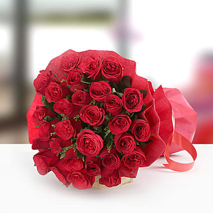 Beauty in Thirty Red Rose Bouquet