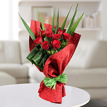 Blooming Red Rose Bunch