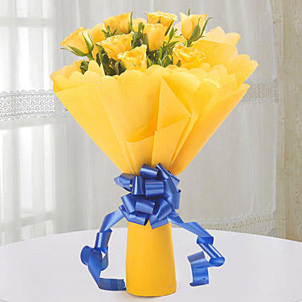 Fervor Yellow Rose Bouquet