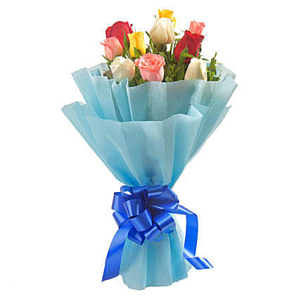 Colorful hue Rose Bouquet
