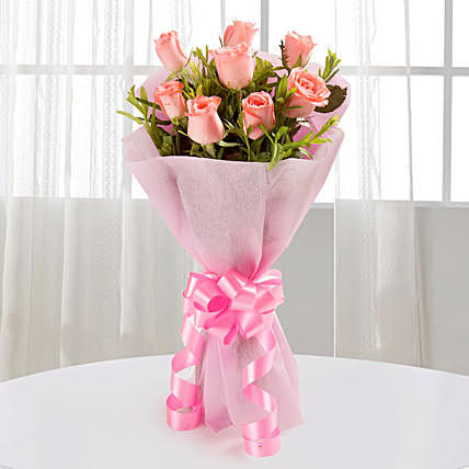 Endearing Pink Rose Bouquet