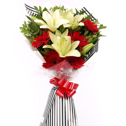 Sunshine of life Red Garberas Bouquet
