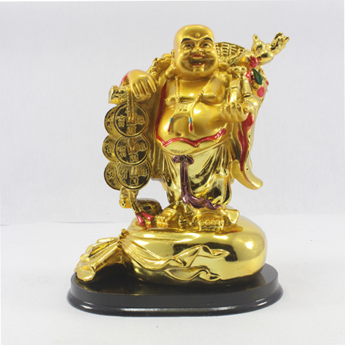 Laughing Buddha Holding coins