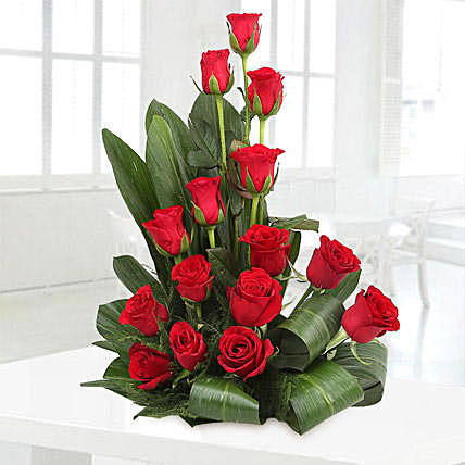 Handsome Red Rose Arrangement