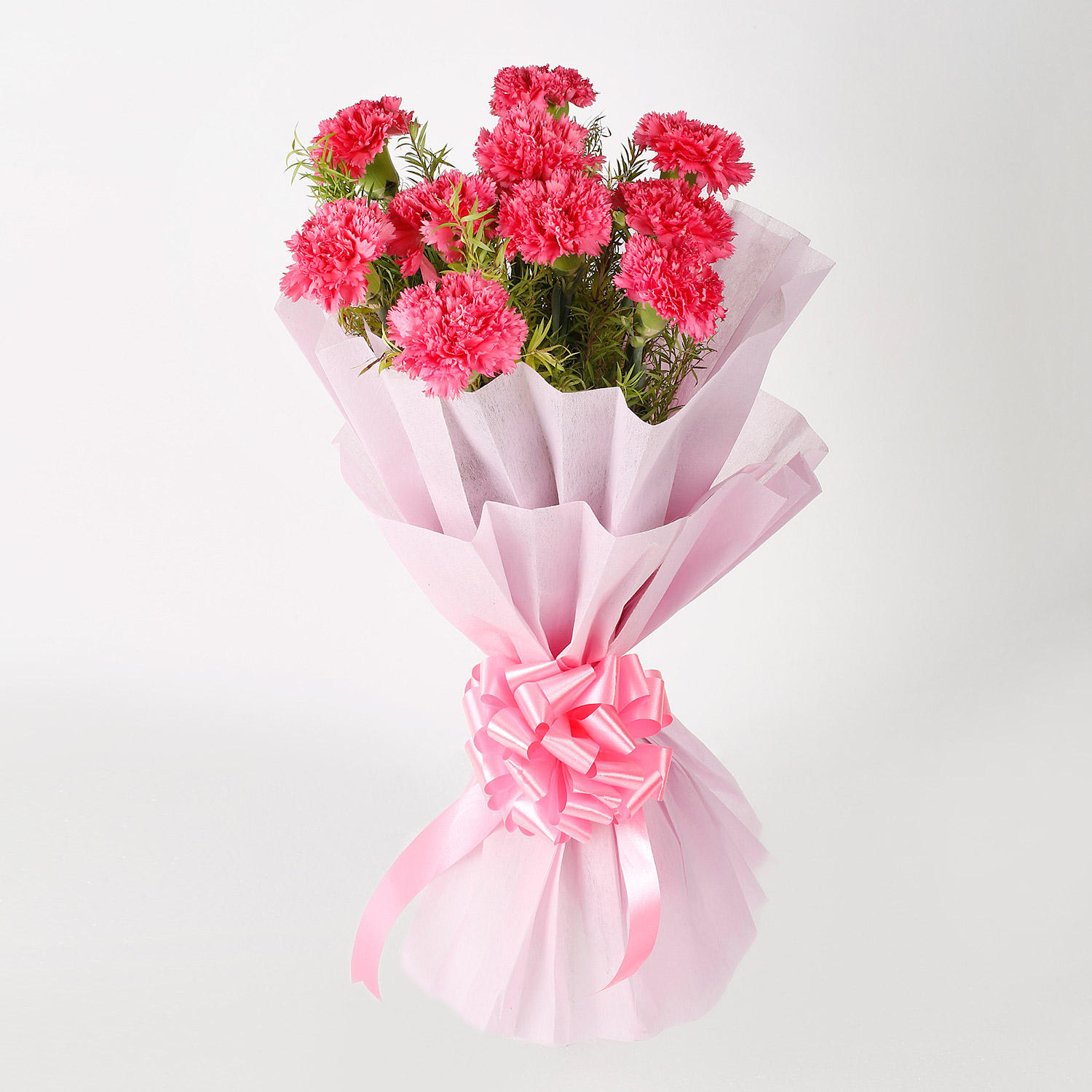 Passionate Pink Carnation Bouquet