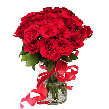 Pure Delight Red Rose Arrangement