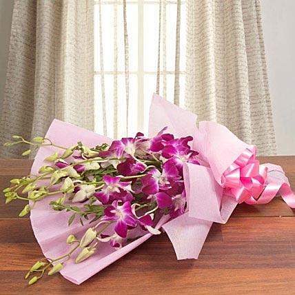 Respectful Purple Orchid Bouquet