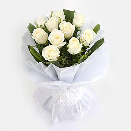 Petalled White Rose Bunch