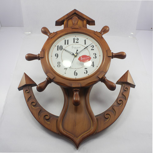 Wooden Finish Anchor Wall Clock